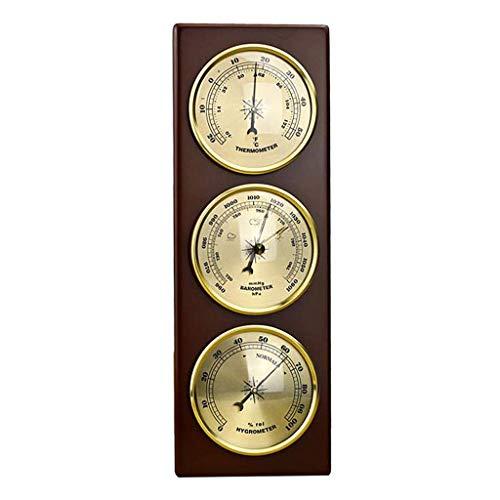 SODIAL Wand-Barometer Thermometer Hygrometer Wetterstation zum Aufhängen Zuhause / Büro Metall Material