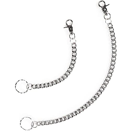 Wallet Chains with Lobster Clasp and Key Ring, 2 Sizes (2 Pieces)