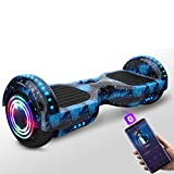 SHIJIANX Scooter Auto-équilibré,Hoverboard avec Roues LED Flash,Overboard Hover Scooter Board avec...