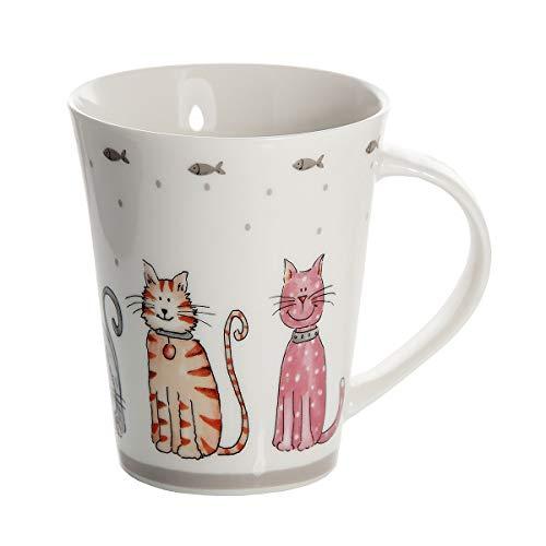 SPOTTED DOG GIFT COMPANY Tasse Katze Lustig Große Kaffeetasse Teetasse Tasse Cat Keramik Porzellan Katzenmotiv Katzen Assesoires Geschenk für Katzenliebhaber Geschenke Katzenfreunde Katzenbesitzer