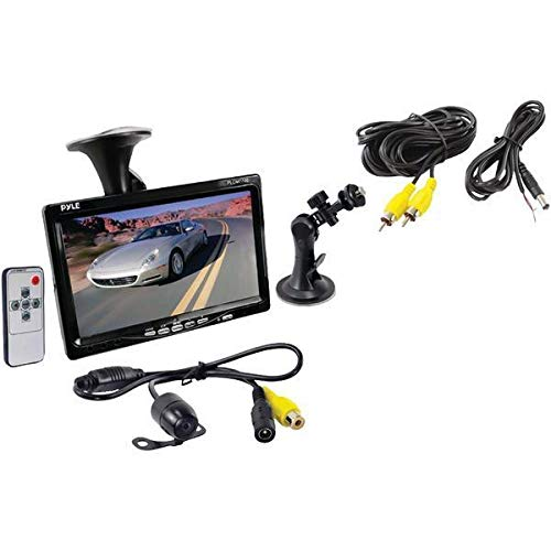 "Pyle PLCM7700 7"" Window Suction-Mount LCD Widescreen Monitor & Universal Mount Backup Color Camera with Distance-Scale Line - Best Price Most Popular New Brand Great Reviews Lo"