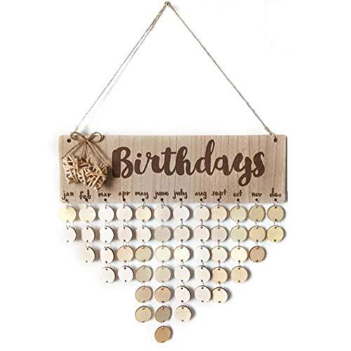 Geburtstag Holz Kalender Hanging Erinnerung Plaque Brett Mit Tags Für Geburtstag Diy Geschenk-dekoration Beste Wahl Für Sie