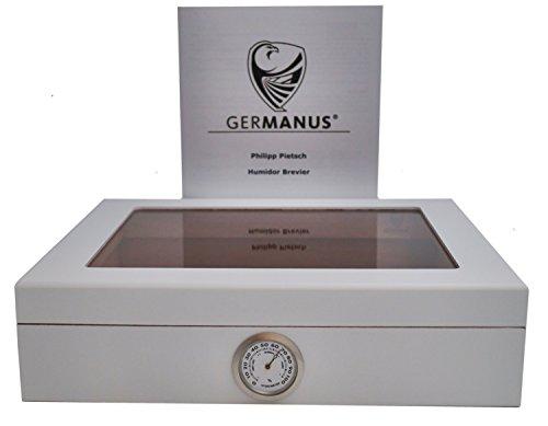 """GERMANUS Humidor de Puros """"Mensalla"""" con Higrómetro y Humidificador y"""