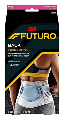 FUTURO For Her Back Support, Ideal for Everyday Activities, Contoured Fit, Breathable, Fits Under Clothing, Adjustable