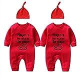 culbutomind Body para bebé de gemelos, 2 juegos, 3 jugadores, 4 regalos de nacimiento, divertido body para bebé, regalo de nacimiento Red Player 0-3 Meses