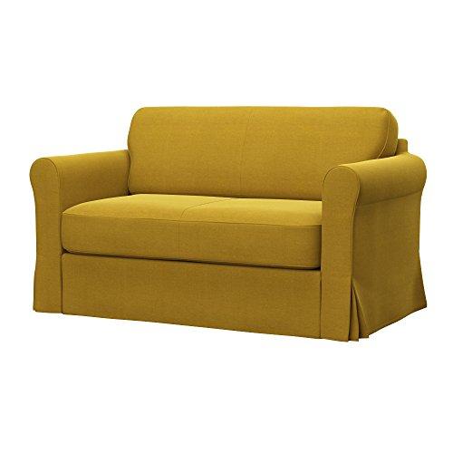 Soferia - IKEA HAGALUND Funda para sofá Cama, Elegance Dark Yellow