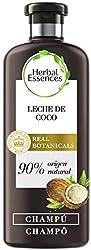 Herbal Essences bio:renew Champú Hidratación, Leche de Coco 400 ml, con ph neutro e ingredientes nat