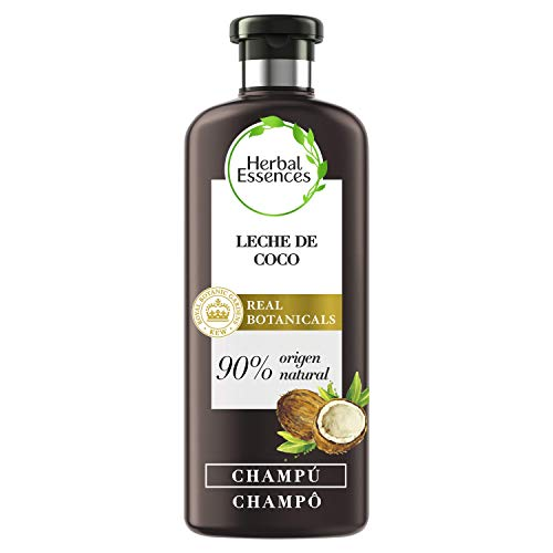 Herbal Essences bio:renew Champú Hidratación, Leche de Coco 400ml, con ph neutro e ingredientes naturales