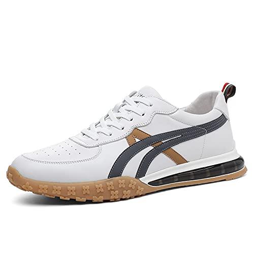 KUXUAN Zapatos de Hombre Primavera Deportes de Hombre Zapatos Casuales Zapatos de Mesa Moda para Hombre Todo Fósforo,White-40