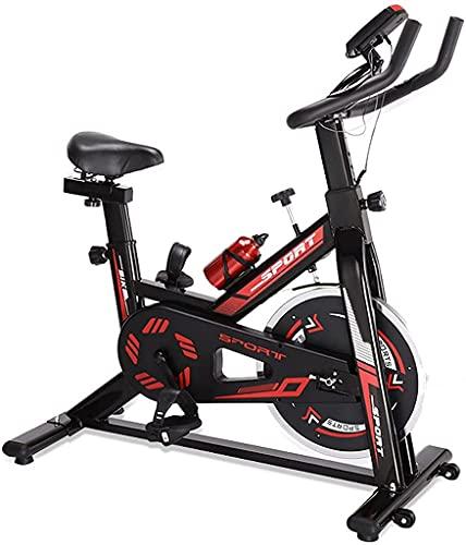 NBLD Bicicleta de Spinning Bicicleta de Ejercicio para el hogar, Bicicleta estacionaria de Interior con portabotellas y Monitor Digital, Gimnasio Aerobic Spinning Bike