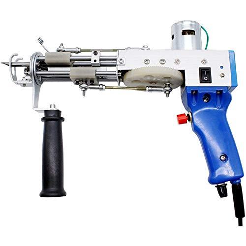 HENGGE Pistola Eléctrica De La Mechón, Alfombra De Tufting Pistola De Corte De Pila De Alfombras Tejiendo Pila 100-240V Alfombra Ajustable Máquina De Confusión,Loop Pile