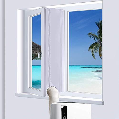 400CM Fensterdichtung für Mobile Klimageräte Klimaanlagen Wäschetrockner und Ablufttrockner, verbesserte Fenster mit Klettbanddichtung von Hot Air - Einfache Installation