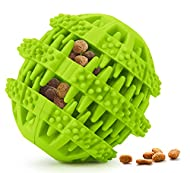 Idepet Dog Toy Ball, Nontoxic Bite Resistant Dog Chew Ball Food Treat Feeder Tooth Cleaning Exercise...