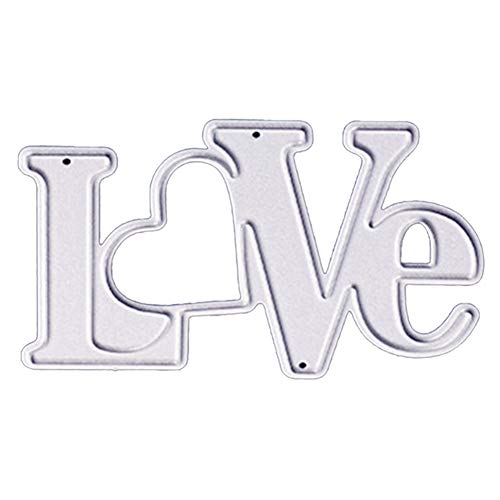 Words Love Cutting Dies Stencils Alphabet Lettle Die Cuts Metal Template Mould DIY Scrapbook Card Making Decoration Tool Gift Photo Album Embossing Scrapbooking Paper Card Decor Craft