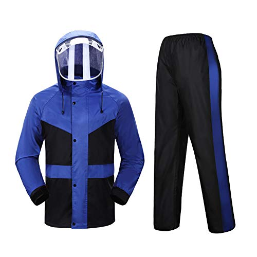 Screen regenjas regenbroek pak mannen en vrouwen Outdoor waterdichte jas Double Split Werkkleding Anti-Speeksel Splash gelaatbescherming