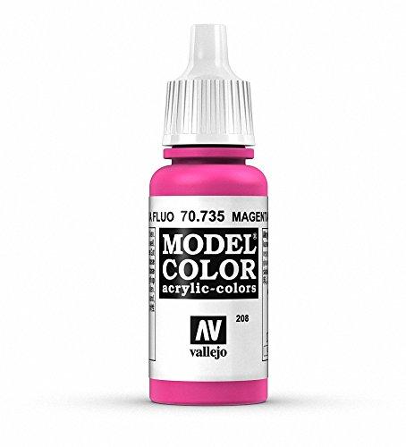 Vallejo Model Color Pintura Acrílica, Rosa (Fluorescent Magenta), 17 ml