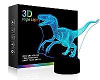 3Dナイトライト。 ブルー