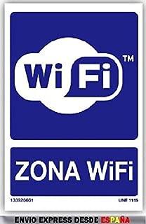 CARTEL SEÑALIZACION SEÑAL AVISO ZONA WIFI: Amazon.es ...