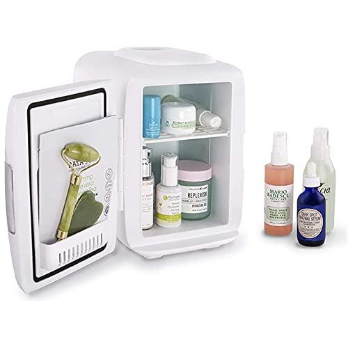Mini Refrigerador Eléctrico, Refrigerador Y Calentador De Coche, 4 litros, Sistema Termoeléctrico Portátil AC/DC, Banco De Energía USB para Viajes