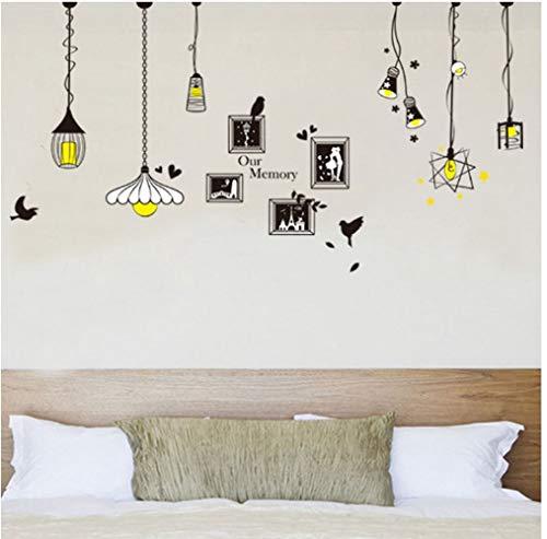 ZBYLL muursticker Italiaanse kroonluchter milieuvriendelijk PVC afneembare woonkamer slaapkamer