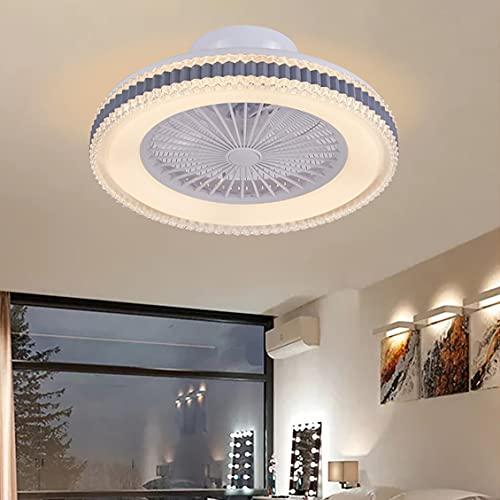 Lamparas Ventilador De Techo Con Mando Silencioso 3 Velocidades LED Regulable Ventilador Techo Con Luz Con Temporizador Ultradelgado Moderno Dormitorio Ventilador Techo Con Luz