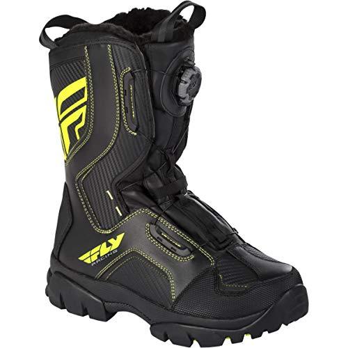 Fly Racing Adult Mens Marker Boa Boots Waterproof Snowmobile Black/Hi-Vis 14