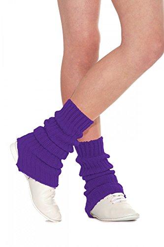 Roch Valley SLW - Calentadores de piernas para Mujer, Mujer, 1SLWPU90, Morado, 90 cm