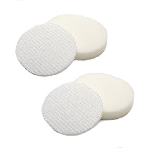 2 Pack Foam & Felt Filter Kit Replacements for Shark XFF80 Navigator Professional NV70, NV80, NVC80C, UV420, NV90 Vacuum Cleaners