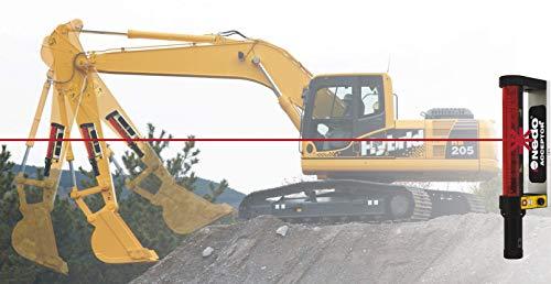 Maschinenempfänger/Baggerempfänger Nedo Acceptor M für Rotationslaser mit Neigungskompensation. Made in Germany! Im stabilen Koffer - 2