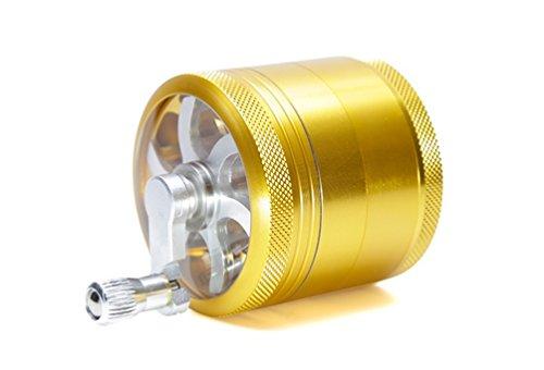 Imagen del producto TANKASE Grinder Moledora Trituradora con Empuñadura Lateral de 4 Piezas Molinillo para Hierbas y Especias 2.2