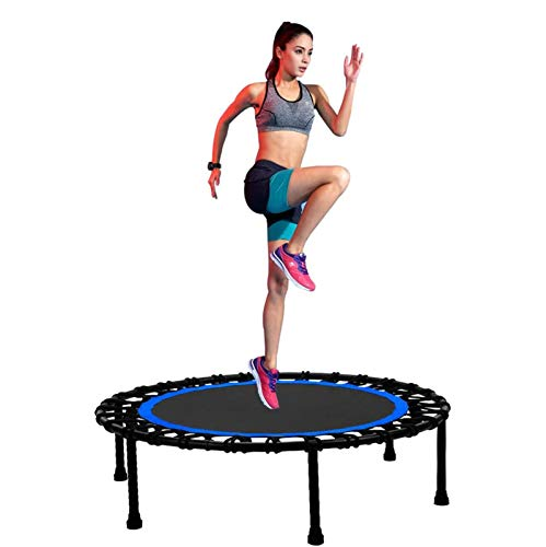 UIZSDIUZ 36'40' 45'48' 50'Mini Mini Trampolín Fitness Trampoline Bungee Rebounder Saltando Entrenador Cardio Entrenamiento para Adultos (máx. Carga 330lbs)