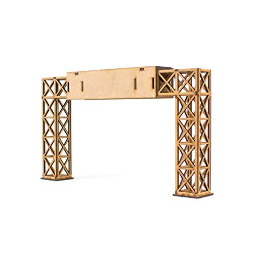 PROSCALE Puente publicitario maqueta 1:32 para Pistas de Slot, Kit de Madera para Montar DIY Compatible con circuitos Coches Scalextric, Ninco Slot, Scalextric Original, Carrera y ScaleAuto