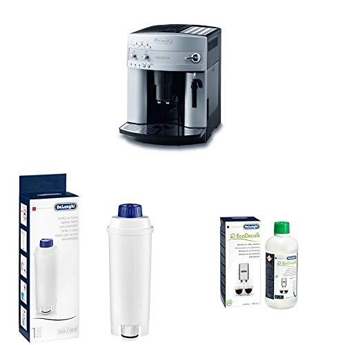 De'Longhi Magnifica ESAM 3200 S Kaffeevollautomat + Wasserfilter   Zubehör für alle De'Longhi Kaffeevollautomaten mit Wasserfilter + EcoDecalk Entkalker   Universal Kalklöser für 4 Entkalkungsvorgänge