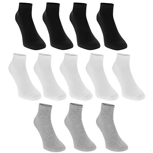Donnay Herren Trainer Sneaker Socken Sport Füßlinge 12 Pack Mehrfarbig Asst Herren UK 12+