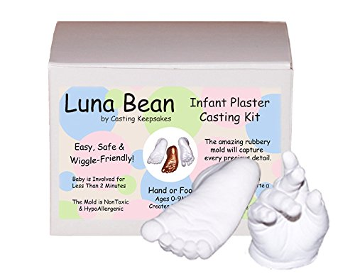Luna Bean Infant Plaster Statue Casting Keepsake Kit - Cast Baby Hand & Foot (Clear Sealant - Gloss)
