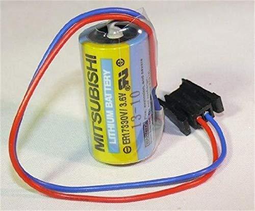 Mitsubishi A6BAT ER17330V 3.6V 2000mAh Lithium Industrial Battery w/Plug