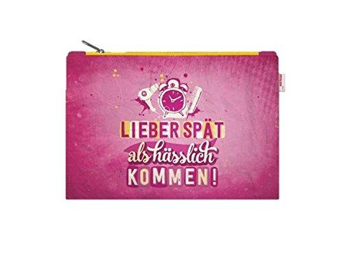 Zipper Pouch LIEBER SPÄT Sticky Jam Tasche Schminktasche 100% RECYCELBAR Reise