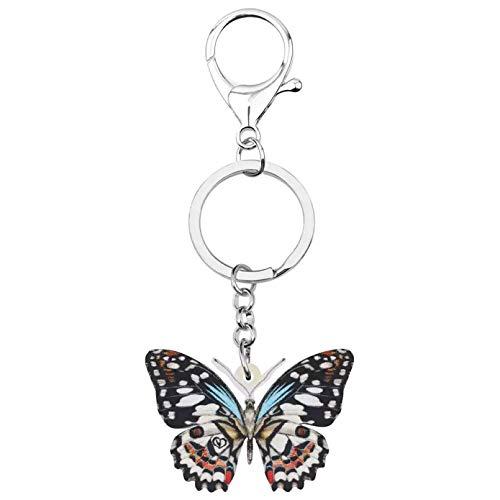 Schlüsselanhänger Schlüsselring Schwalbenschwanz Schmetterling Schlüsselanhänger Schlüsselring Tier Schlüsselanhänger Für Frauen Mädchen Männer Lustige Geschenk Brieftasche Dekoration
