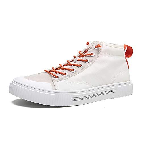 Zapatillas De Lona, Zapatillas Altas Unisex para Adultos, Zapatillas Altas Transpirables De Sección Delgada (7.0UK,White)