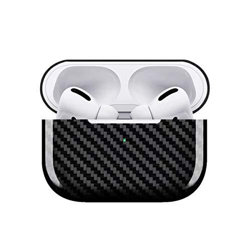 Safedome - Funda rígida de Fibra de Carbono para AirPods Pro, Compatible con Carga inalámbrica e inalámbrica, LED Frontal Visible y Ultra Delgado a Prueba de Golpes