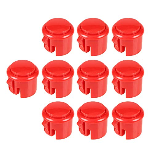 10x OEM arcade pulsanti 30 millimetri push Built-in micro switch per Arcade Machine Mame Jamma KOF Giochi di Pacman Parts - Red