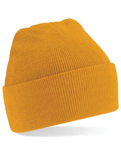 Beechfield B45 - Umgeschlagene Beanie-Mütze, gelb, B45
