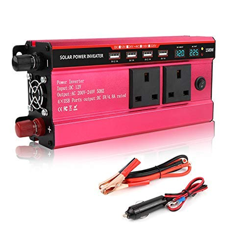 MINLELE Power Inverter 1500 Watt DC 12V to 230V/240V AC Car Converter- Car...