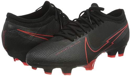 Nike Unisex Adults Vapor 13 Pro FG Football Shoe, Black Black Dark Smoke Grey, 10 UK