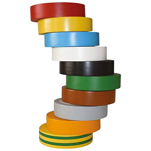 HellermannTyton Isolierband HelaTape Flex 15 Rot, Grau, Gelb, Grün, Blau, Orange, Weiß, Braun, Schwarz