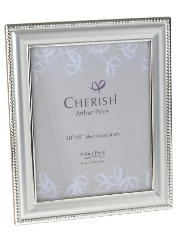 Cherish Arthur Price, Bead - Portafoto con Cornice placcata in Argento 20x25cm