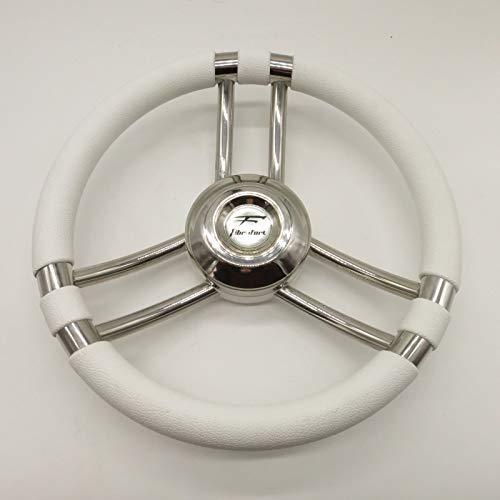 Osculati Volante C INOX/Bianco 350 mm (C Soft Polyurethane Steering Wheel White/SS 350 m