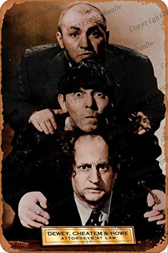 Cimily The Three Stooges poster Tin wall sign retro art iron painting metal plaque 8 * 12 inch wall decoration garden poster bar cafe bedroom yard