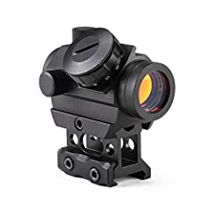 """3-4 MOA, 11 BRIGHTNESS SETTINGs, MULTI-COATED AMBER LENS WITH 1"""" RISER: 3-4 MOA red dot sight allows for accurate, both-eyes-open shooting. 11 red dot brightness settings provide optimal visibility in any light conditions. Multi-coated, scratch resis..."""