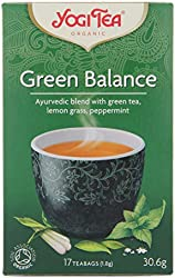 Yogi Organic Ancient Green Balance Tea + Kombucha - 17 Tea Bag, 30.6g